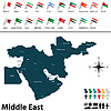 Politische Landkarte des Nahen Ostens