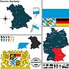 Karte von Bayern, Deutschland
