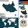 Karte von Süd-Sudan