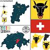 Map of Uri, Switzerland