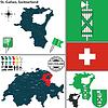 Map of St. Gallen, Switzerland