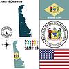 Karte des Staates Delaware, USA