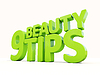 3D-Beauty-Tipps | Stock Illustration