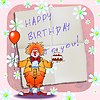 Happy birthday clown  | Stock Vector Graphics