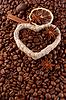 계 피 스틱 커피 콩 | Stock Foto