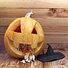 ID 4432672 |  Pumpkin with hat | Foto stockowe wysokiej rozdzielczości | KLIPARTO