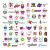 große Sammlung von Logos und Einkaufs-Rabatte