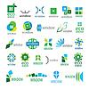 Große Sammlung von Logos Fenster | Stock Vektrografik