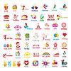 Größte Sammlung von Logos und Urlaub, Geschenke | Stock Vektrografik
