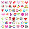 größte Sammlung von Logos und Herzen Valentinstag