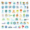 Größte Sammlung von Logos Reise | Stock Vektrografik