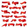 Größte Sammlung von roten Bändern | Stock Vektrografik
