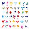 Największy zbiór loga ptaków | Stock Vector Graphics