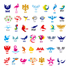 Größte Sammlung von Logos Vögel | Stock Vektrografik