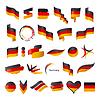 größte Sammlung von Flagge von Deutschland