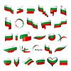 größte Sammlung der Flagge von Bulgarien