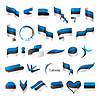 größte Sammlung von Flaggen von Estland