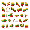 größte Sammlung von Flaggen von Litauen