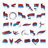 größte Sammlung von Flaggen von Serbien-Montenegro
