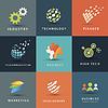Business-und Technologie-Icons Set