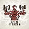 Bodybuilder, Sportler trainieren Symbol