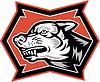 Verärgerter Wolf Wild Dog Retro