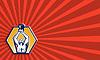 ID 4103454 | Crossift Athlete Heben Kettlebell Vorne Retro | Illustration mit hoher Auflösung | CLIPARTO