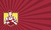 ID 4106934 | Klempner mit Schraubenschlüssel retro | Illustration mit hoher Auflösung | CLIPARTO