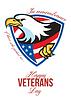 ID 4124819 | Glückliche Veterans Day American Eagle Grußkarte | Illustration mit hoher Auflösung | CLIPARTO