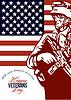 ID 4124832 | Veterans Day Modern American Soldier Card | Stockowa ilustracja wysokiej rozdzielczości | KLIPARTO