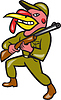 ID 4131923 | Türkei Hunter Carry Rifle Shotgun Cartoon | Illustration mit hoher Auflösung | CLIPARTO