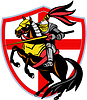 Photo 300 DPI: English Knight Lance England Flag Shield Retro