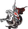 Englisch Ritter Kampf Drache England-Flaggen-Schild