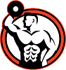 ID 4167880 | Bodybuilder Heben Hantel Retro | Illustration mit hoher Auflösung | CLIPARTO