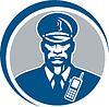 ID 4167908 | Security Guard Polizist Radio-Kreis | Illustration mit hoher Auflösung | CLIPARTO
