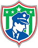 ID 4167909 | Ochrona Policjant Tarcza | Stockowa ilustracja wysokiej rozdzielczości | KLIPARTO