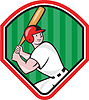 Amerikanischen Baseball-Spieler Cartoon Bat Diamant