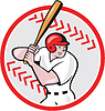 Baseballspieler Ball-Cartoon