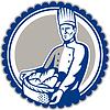 Baker Holding-Korb Brot-Laib Retro