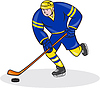 ID 4202260 | Ice Hockey Player Side With Stick Cartoon | 높은 해상도 그림 | CLIPARTO