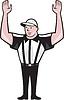 Football-Schiedsrichter Touchdown-Karikatur