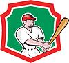 Baseballspieler Crest Cartoon
