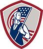 American Patriot-Holding USA-Flaggen-Schild
