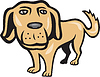 Retriever Hund Big Head Cartoon