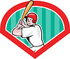 Baseballspieler Diamant Cartoon