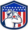American Soldier Salutieren Flaggen-Schild