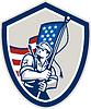 American Soldier Winken Stars And Stripes-Flaggen-Schild