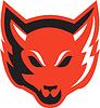 Red Fox Kopf Vorder