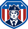 Amerikanischen Security Guard Flaggen-Schild Retro