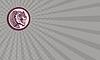 ID 4300397 | Wizytówka Tiger Szef Warczenie Side Koło Retro | Stockowa ilustracja wysokiej rozdzielczości | KLIPARTO